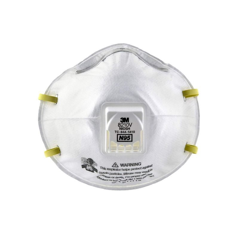 n95 disposable respirator molded white mask size universal