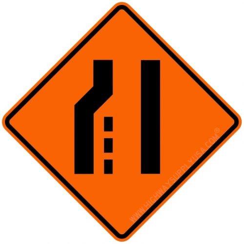 Traffic Sign, Left Lane Ends Symbol