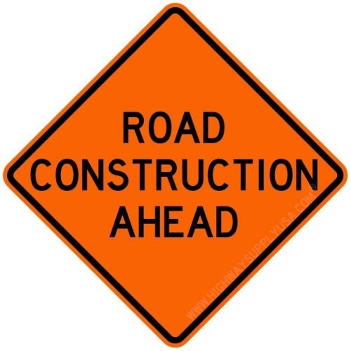 Roll up, Traffic Sign, Road Construction