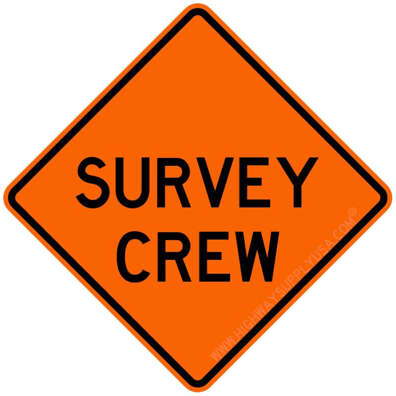 Roll up, Traffic Sign, Survey Crew