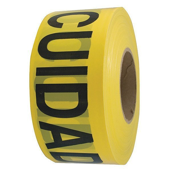 Barricade Tape, Caution, Yellow, 3in