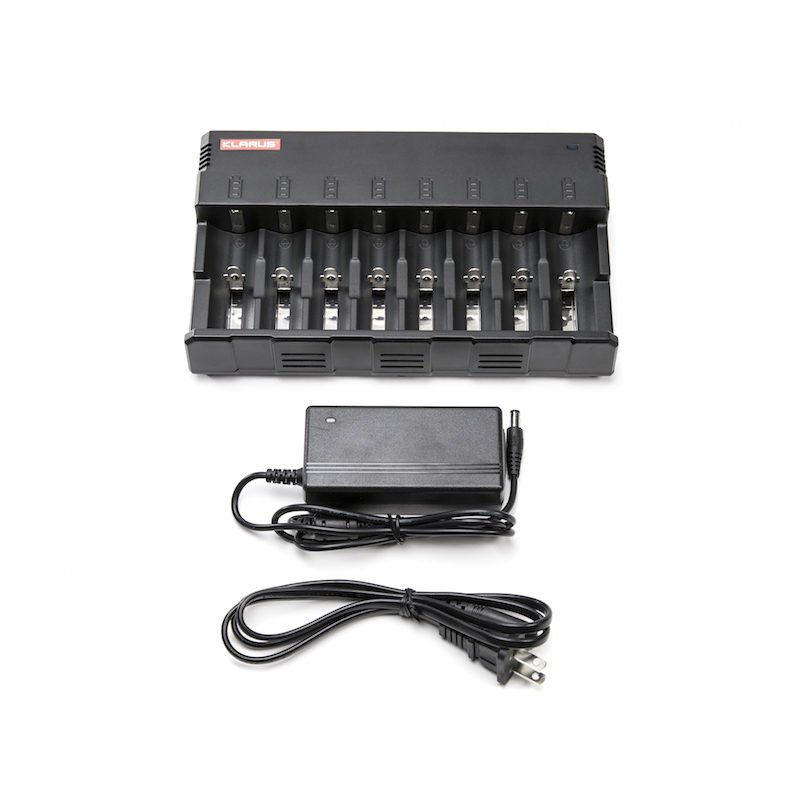 Illumagear Halo, Klarus C8 8-bay Universal Battery Charger