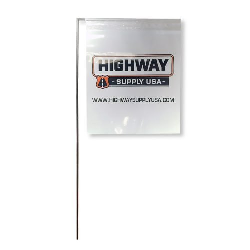 """4"""" x 5"""" High Gloss Poly Marking Flag with 21"""" Staff"""